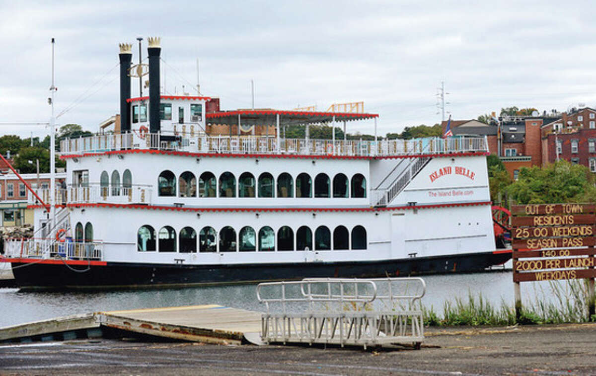 Hour photo / Erik Trautmann The attorney for the Island Belle owner responds to the city's directive to remove the vessel from the Norwalk Visitors Dock.