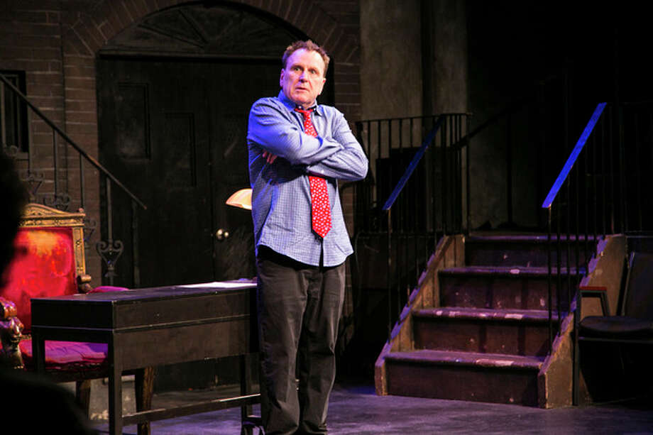 "This theater image released by Keith Sherman and Associates shows Colin Quinn performing his one-man show, ""Colin Quinn Unconstitutional,"" in New York. (AP Photo/Keith Sherman and Associates, Mike Lavoie) / Keith Sherman and Associates"