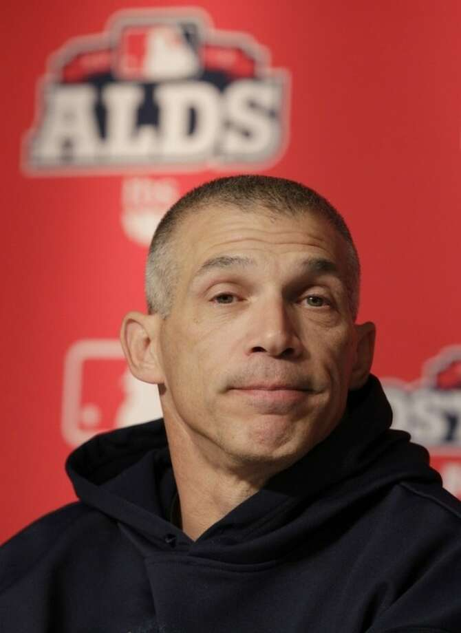 New York Yankees manager Joe Girardi speaks during a news conference before Game 4 of the American League division baseball series against the Baltimore Orioles Thursday, Oct. 11, 2012, in New York. Girardi's father Jerry Gerardi died on Saturday, in Metamora, Ill., the Deiters Funeral Home said. He was at 81. (AP Photo/Frank Franklin II)