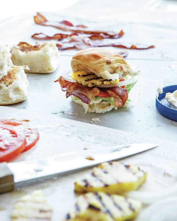 "Chrissy Teigen's King's Hawaiian BLPTS (a BLT slider with pineapple). Reprinted from ""Cravings: Recipes for All the Food You Want to Eat"" by Chrissy Teigen. Photo: Aubrie Pick /Courtesy Aubrie Pick / Clarkson Potter /Publishers, An Imprint Of Penguin Random House LLC"