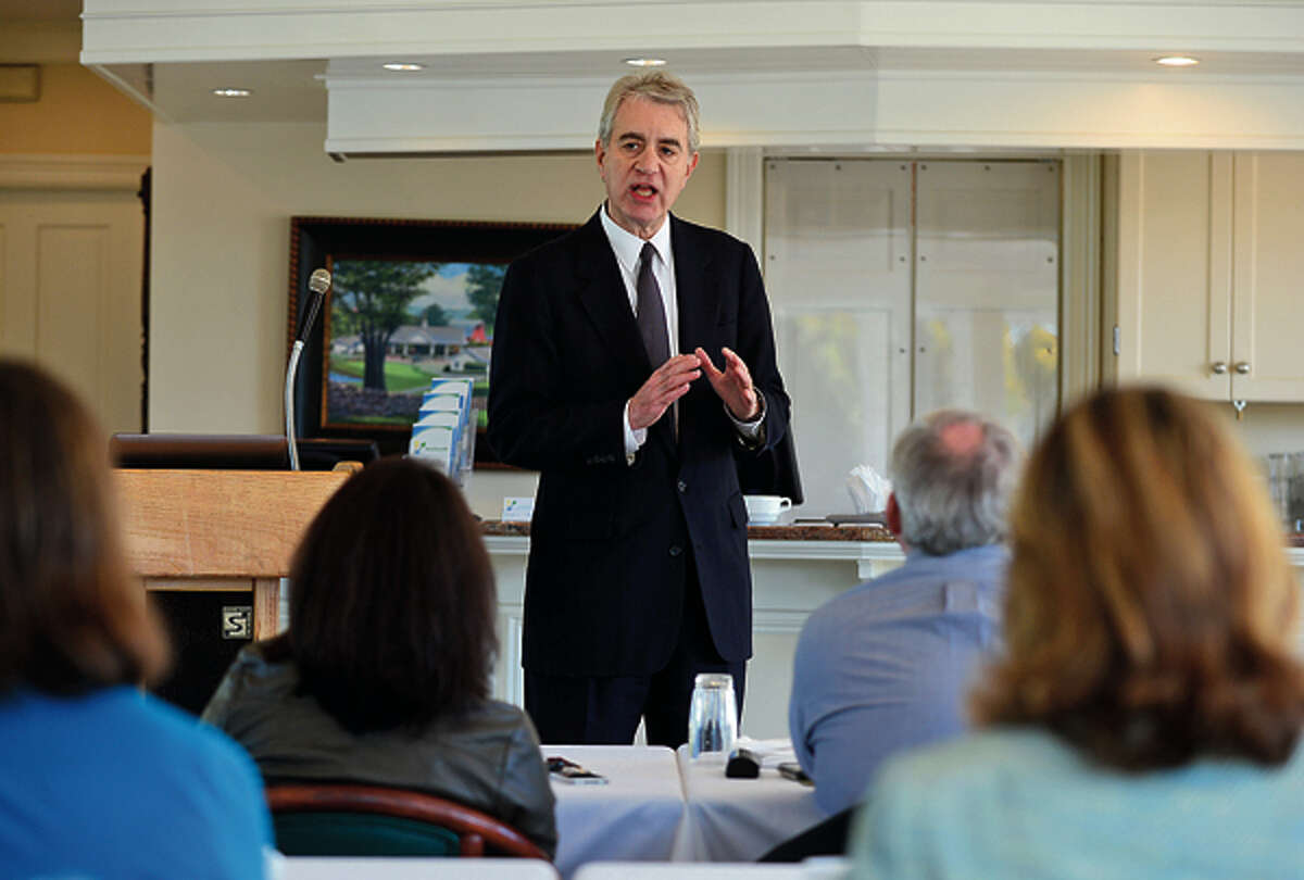 Kevin Counahan, CEOof CT Health Exchange, will talk with CEOand CFOs of local companies at the Silvermine Golf Club. Hour photo / Erik Trautmann