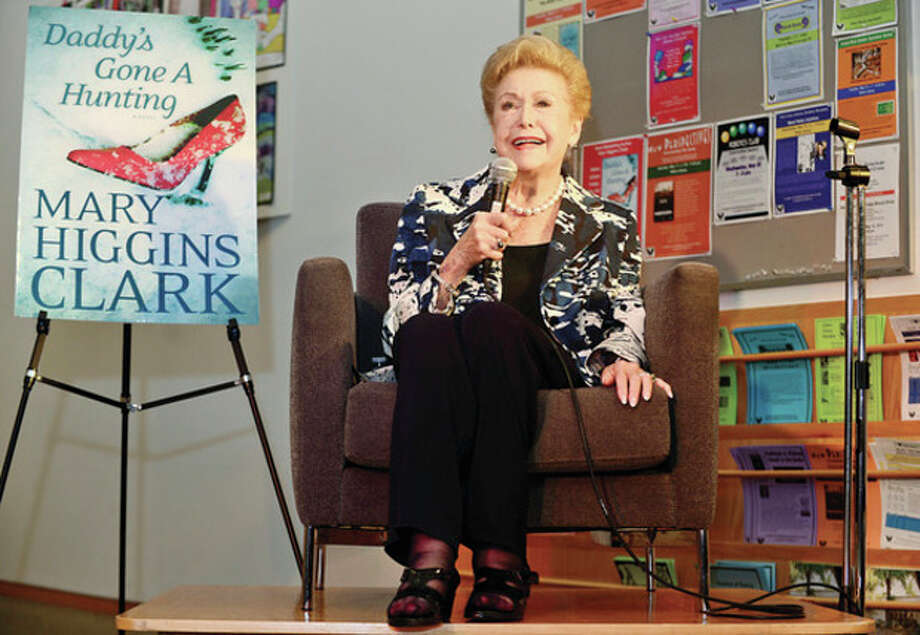 World reknowned author Mary Higgins Clark visits the Wilton Public Library Friday night for a brief biography, reading and book signing.Hour photo / Erik Trautmann / (C)2013, The Hour Newspapers, all rights reserved