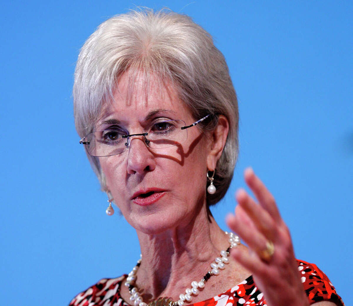 FILE - In this May 15, 2012 file photo, Health and Human Services Secretary Kathleen Sebelius speaks in Bethesda, Md. Medicare, overseen by Sebelius' department, is coming under scrutiny in the meningitis outbreak that has rekindled doubts about the safety of the nation?'s drug supply. (AP Photo/Jose Luis Magana, File)