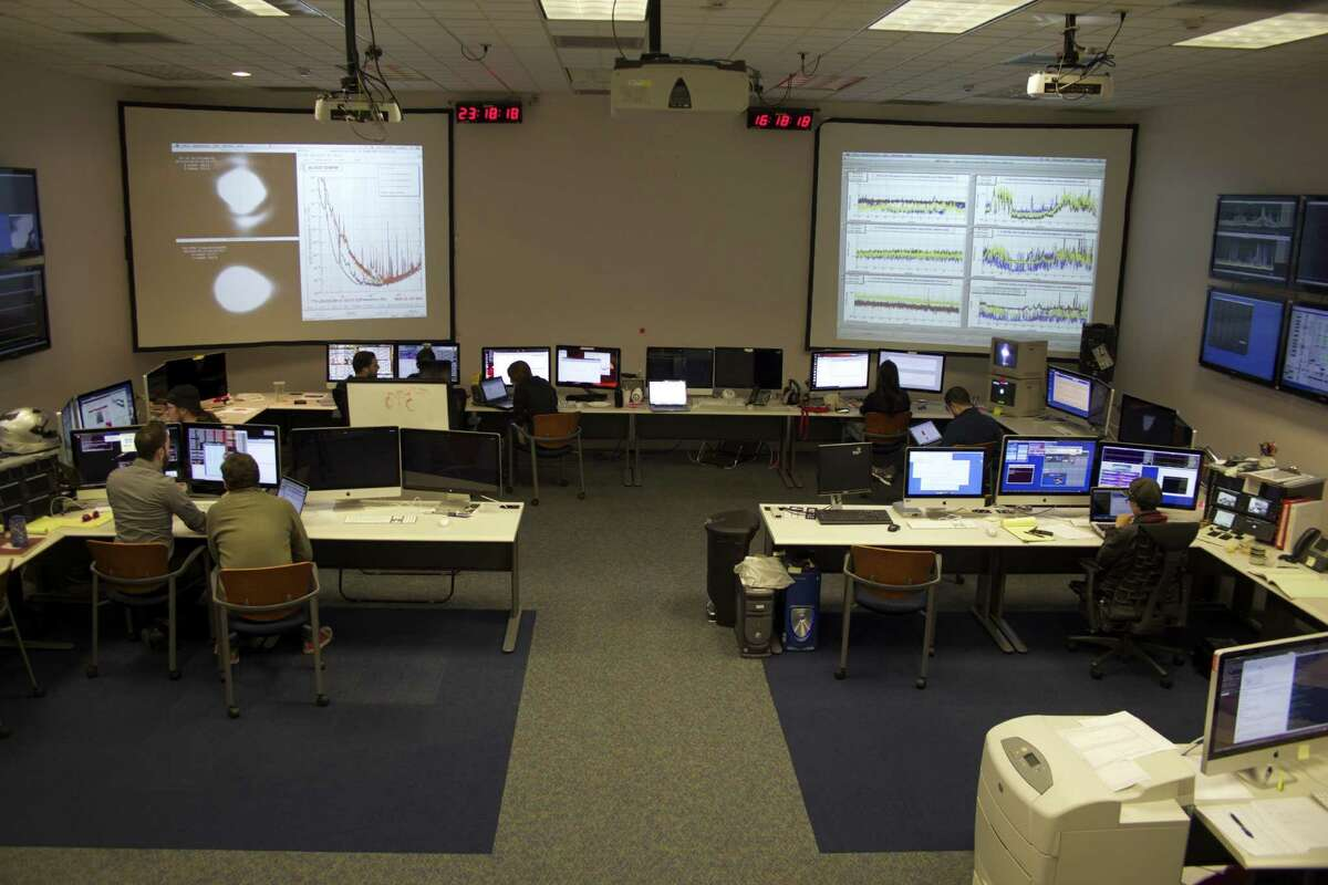 The control room at the Laser Interferometer Gravitational-wave Observatory in Hanford, Wash. The other observatory is located in Louisiana.