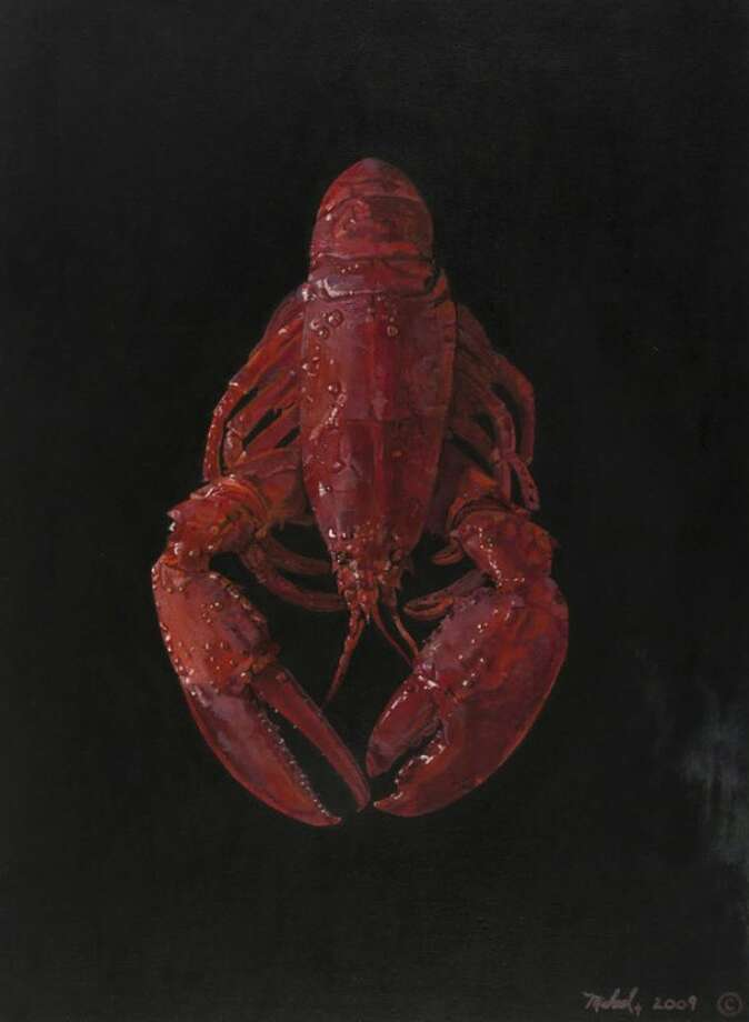 This image released by his attorney shows a 2009 painting of a lobster made by Michael Skakel while incarcerated at the MacDougall-Walker Correctional Institution in Suffield, Conn. Skakel is serving 20 years to life for beating Martha Moxley to death with a golf club in 1975 in Greenwich, Conn., when they were 15. Skakel will get his first parole hearing Wednesday, Oct. 24, 2012 at the prison to determine whether he should be released. (AP Photo/Michael Skakel)