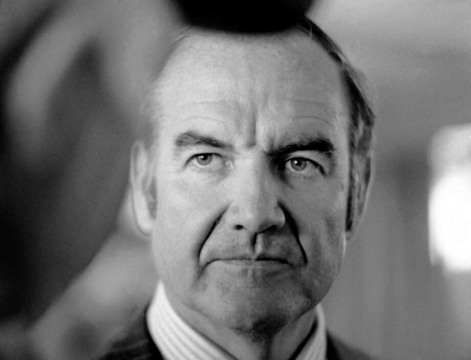 FILE - In this March 25, 1974 file photo, Sen. George McGovern of South Dakota listens to constituents as he arrives at Pierre, S.D. airport. A family spokesman says, McGovern, the Democrat who lost to President Richard Nixon in 1972 in a historic landslide, has died at the age of 90. According to the spokesman, McGovern died Sunday, Oct. 21, 2012 at a hospice in Sioux Falls, surrounded by family and friends.(AP Photo/Jim Mone, File) / AP