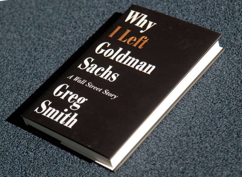 "Greg Smith's new book ""Why I Left Goldman Sachs, is photographed Monday, Oct. 22, 2012, in New York. Smith was a vice president at Goldman Sachs until March when he announced his departure from the investment bank with a blistering editorial in The New York Times. (AP Photo/Bebeto Matthews) / AP"