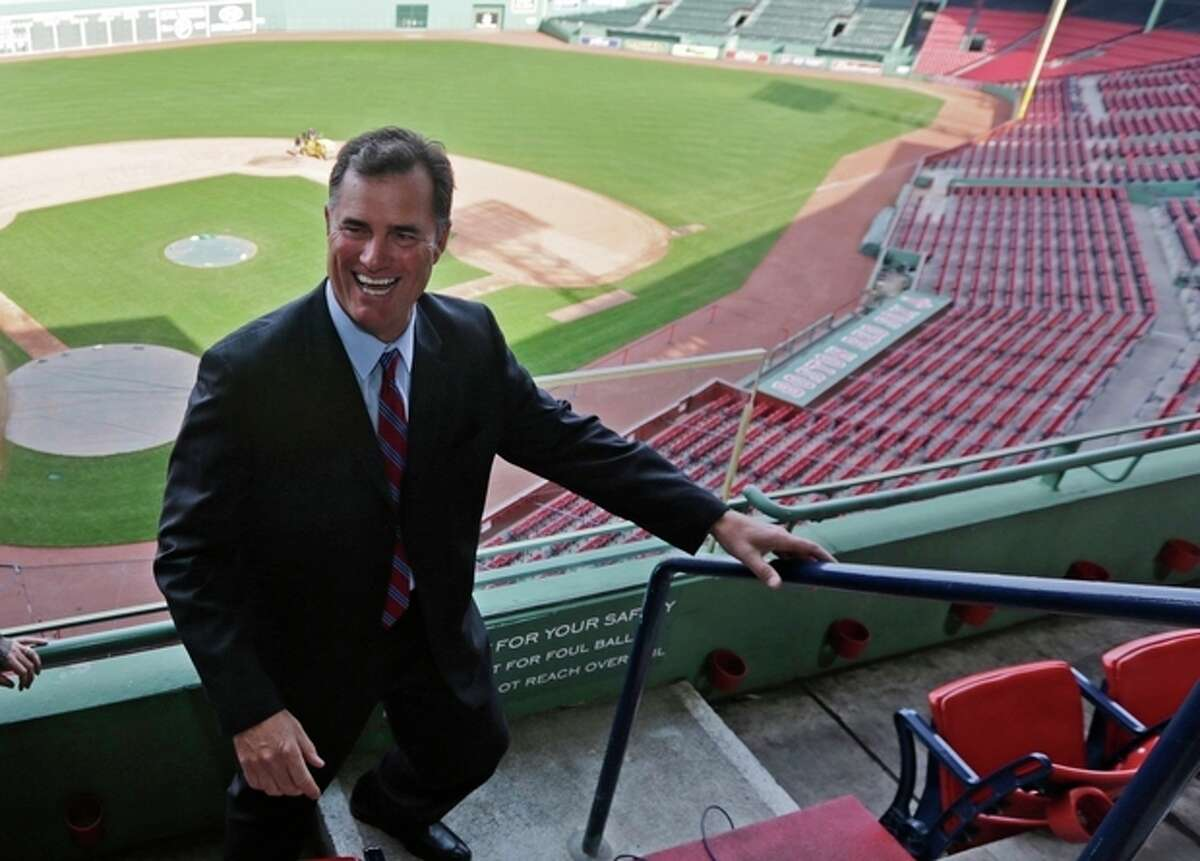 Boston Red Sox new manager John Farrell smiles as he walks through the stands at Fenway Park in Boston, Tuesday, Oct. 23, 2012. Farrell becomes the 46th manager in the club?'s 112-year history. (AP Photo/Charles Krupa)
