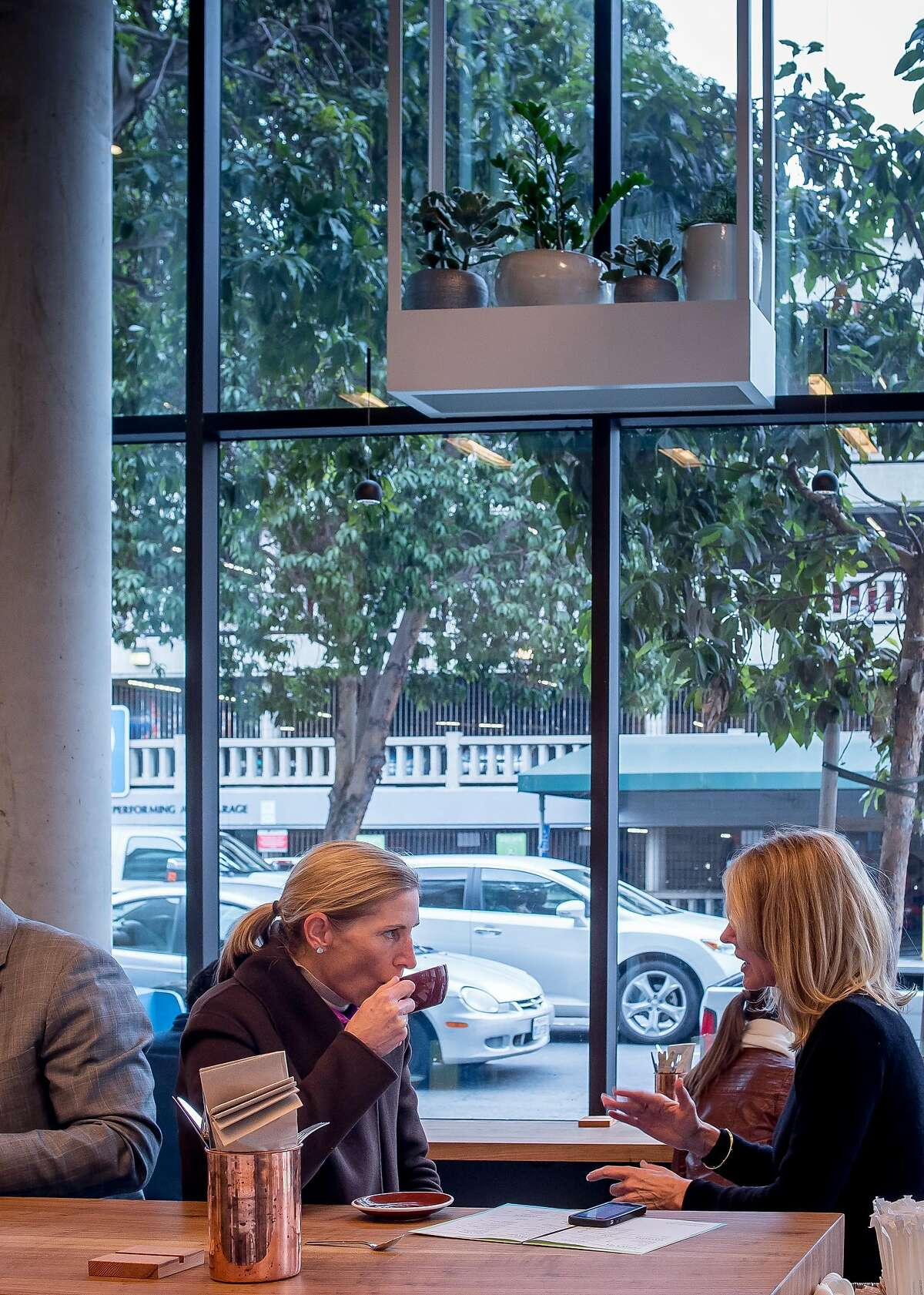 People have lunch at Little Gem in San Francisco, Calif. on January 28th, 2016.