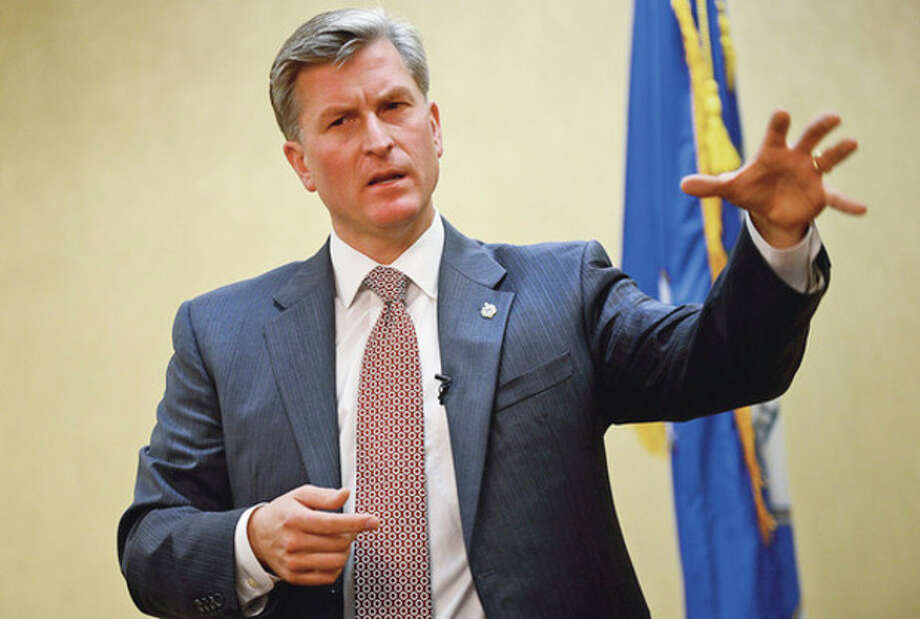 GOP candidate for the 4th Congressional seat answers questions during a forum sponsored by the Stamford Chamber of Commerce at the Stamford Forum Wednesday.Hour photo / Erik Trautmann / (C)2012, The Hour Newspapers, all rights reserved