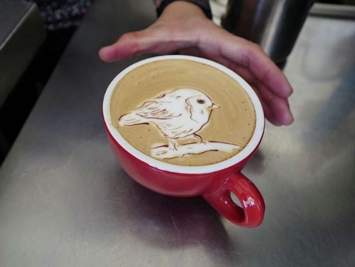 A latte masterpiece by Melanie Aquino, a barista at the Elite Audio Coffee Bar in San Francisco's SOMA neighborhood. Find more of Aquino's creations on her Melaquino Instagram page.