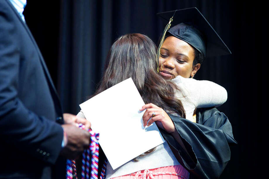 AITE's Commencement Exercise at Rippowam Auditorium in Stamford Wednesday evening. Hour photo / Danielle Robinson