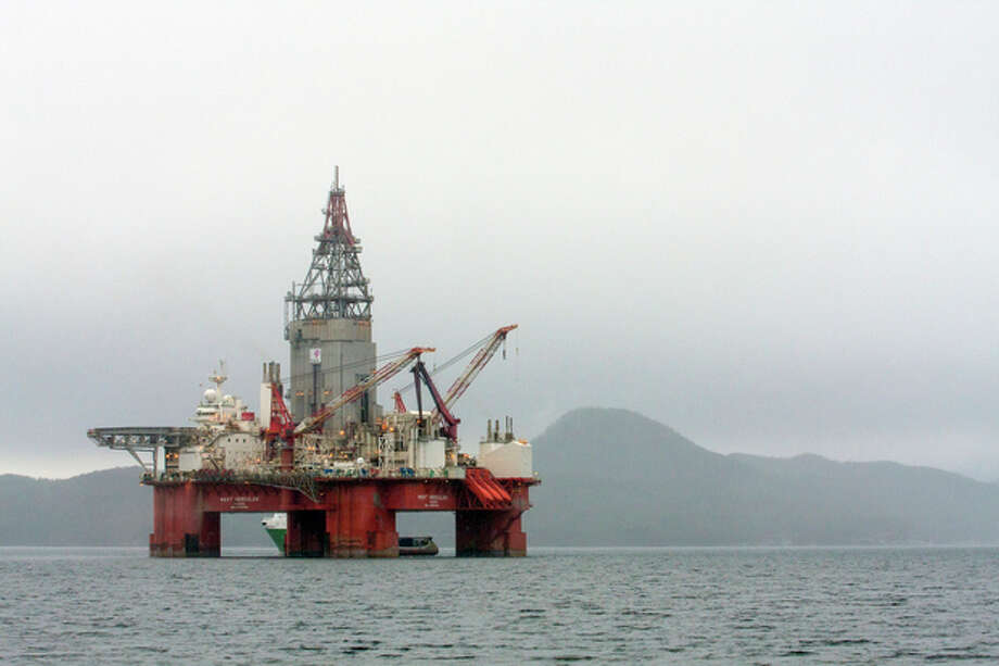 This April 26, 2013 photo shows the West Hercules drilling rig in the Skaanevik fjord in western Norway. Oil company Statoil has postponed plans to drill its northernmost well ever in the Barents Sea partly because it couldn't get the rig winter-ready in time. On Wednesday Parliament voted to open another area in the Barents Sea to offshore oil drilling, despite protests from environmentalists. (AP Photo/Scanpix, Statoil) / Statoil via Scanpix