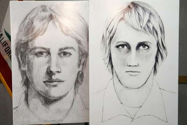 Sketches of the East Area Rapist, also known as the Golden State Killer, sit on display during a news conference at the Sacramento County Sheriff's Department in Sacramento, California, on Wednesday, June 15, 2016.