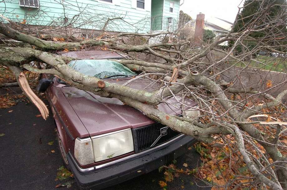 Hour Photo Alex von Kleydorff; Storm damage in Stamford after Hurricane Sandy.