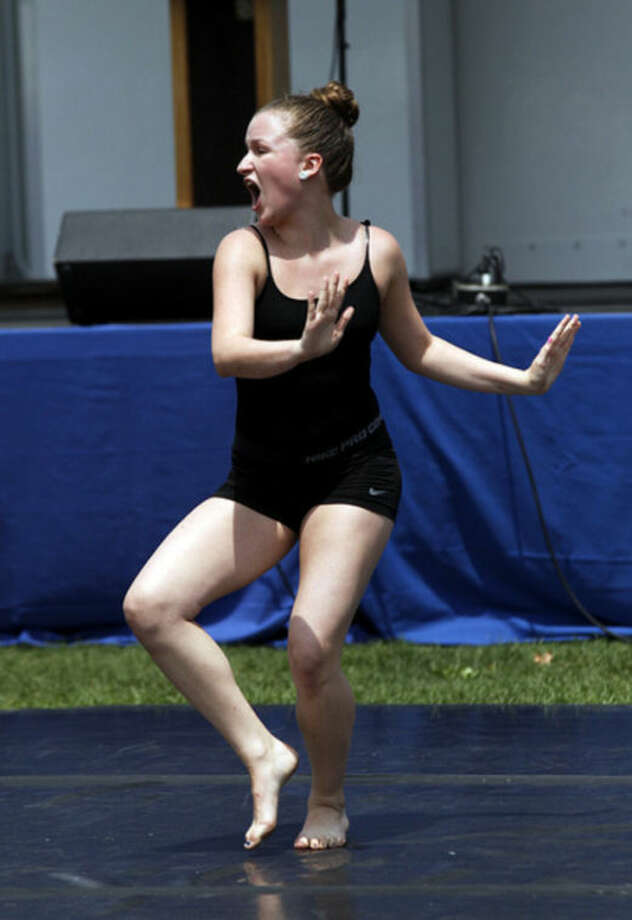 Lauren Madden from the Norwalk Academy of Dance performs during the Third Taxing District's Power On The Sound event celebrating their 100th anniversary at Calf Pasture Beach in Norwalk Saturday afternoon.Hour Photo / Danielle Calloway