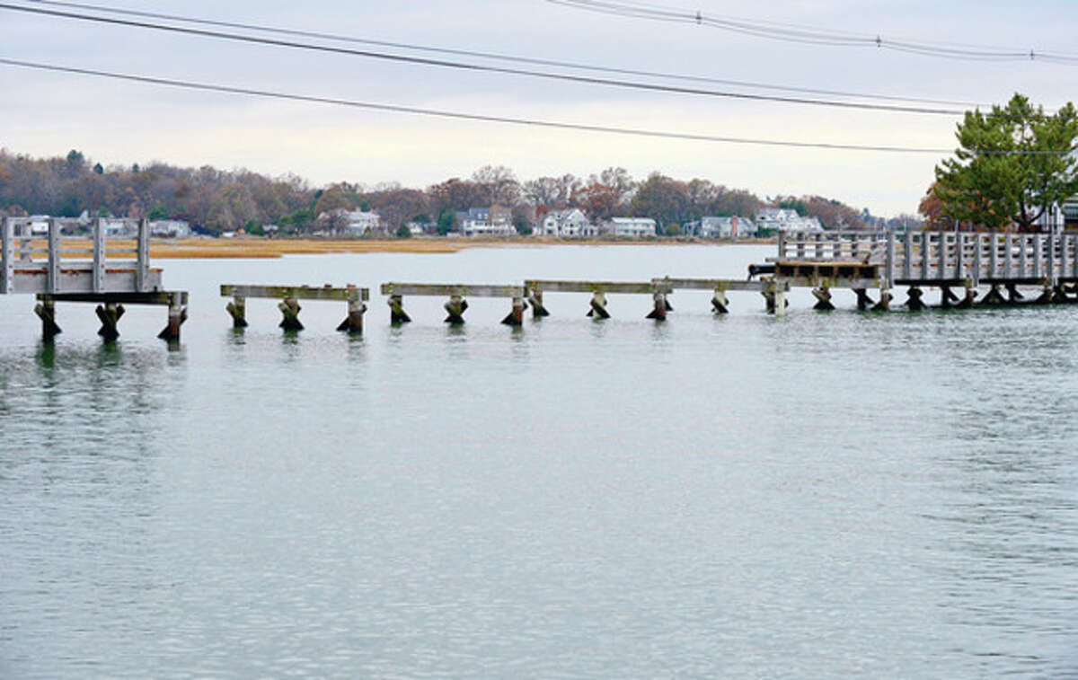 The Canfield Island vehicle bridge was swept away during hurricane Sandy. The bridge may be replaced with a pedestrian only bridge. Hour photo / Erik Trautmann