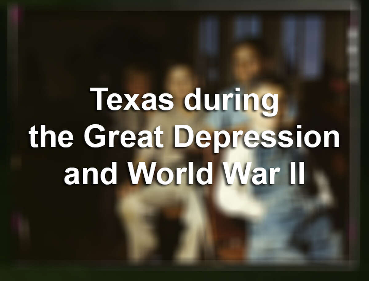 Texas in Kodachrome color during the Great Depression and World War II