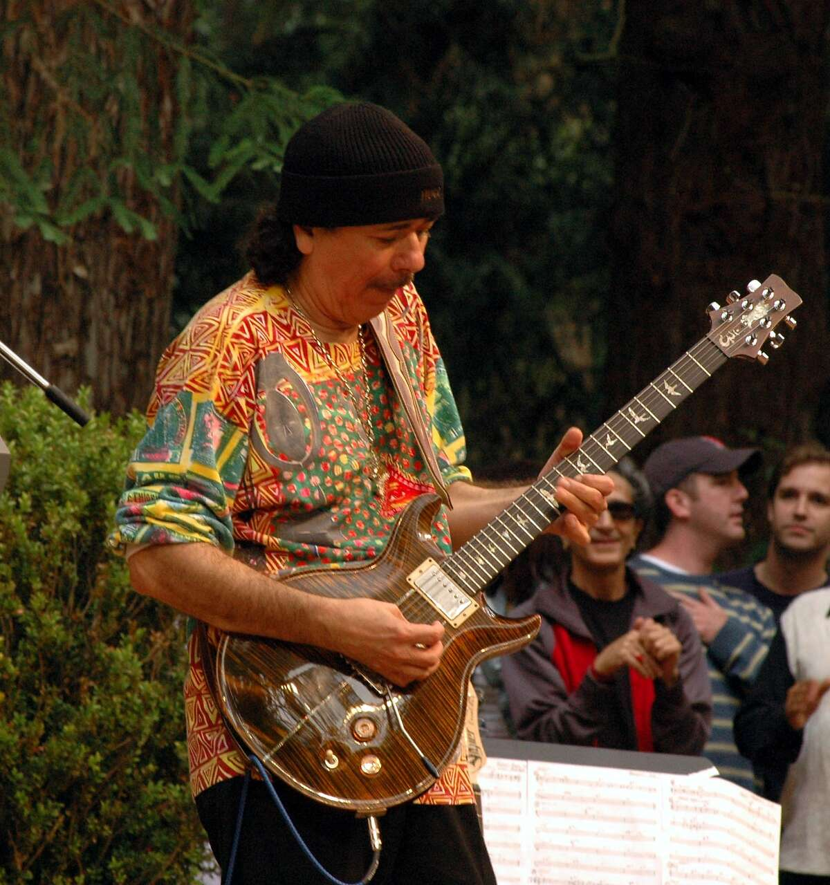 Carlos Santana at Stern Grove on July 25, 1999. His surprise appearance with Khaled raised that performance onto Doug Goldman's top three shows he has seen in 25 years on the board of the Stern Grove Festival.