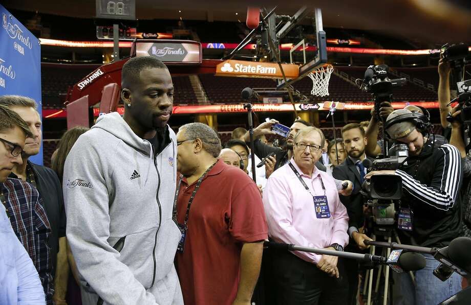 """Draymond Green, in his first public comments since being suspended for Game 5, said Wednesday that he needs to keep his emotions in check and """"be better as a leader."""" Photo: Michael Macor, The Chronicle"""