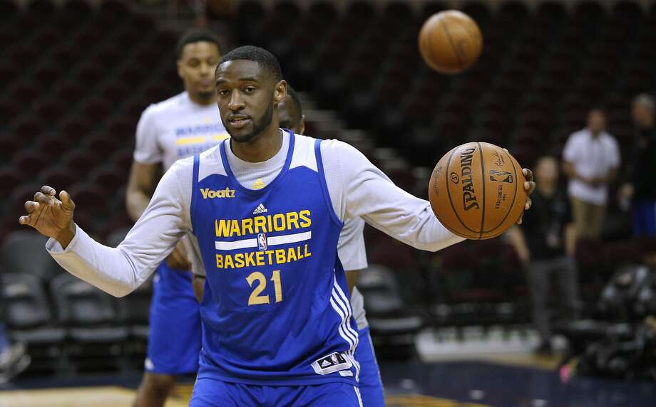 Ian Clark, of the Golden State Warriors during a practice session at Quicken Loans Arena in Cleveland, Ohio  on Wed. June 15, 2016, as the team prepares to take on the Cleveland Cavaliers in game 6 of the NBA Championship at Quicken Loans Arena in Cleveland, Ohio  on Wed. June 15, 2016. Photo: Michael Macor, The Chronicle