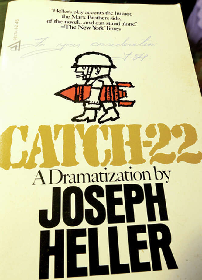 A intialed dramatization of Catch 22 by it's author Joseph Hiller will be for sale at the Westport Public Library's 21st annual Summer Book Sale July 20-23. Hour photo / Erik Trautmann / (C)2013, The Hour Newspapers, all rights reserved