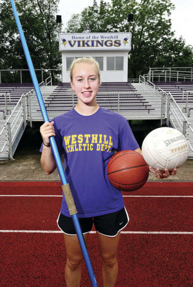 Stephanie Roones is a three-sport Westhill High School athlete who will be a senior in September.Hour photo / Erik Trautmann