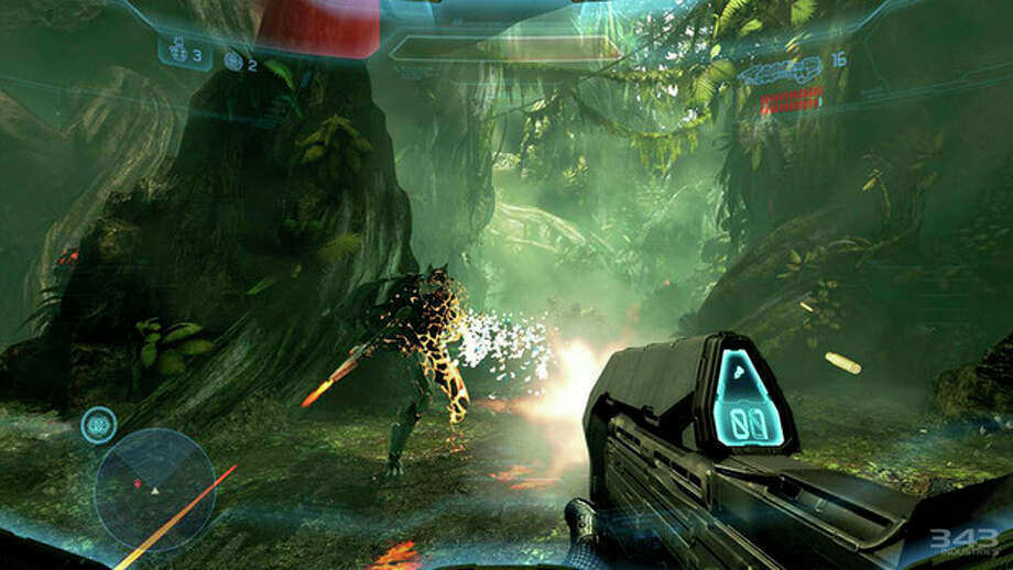 """AP Photo/MicrosoftThis video game image released by Microsoft shows a scene from """"Halo 4."""" / Microsoft"""