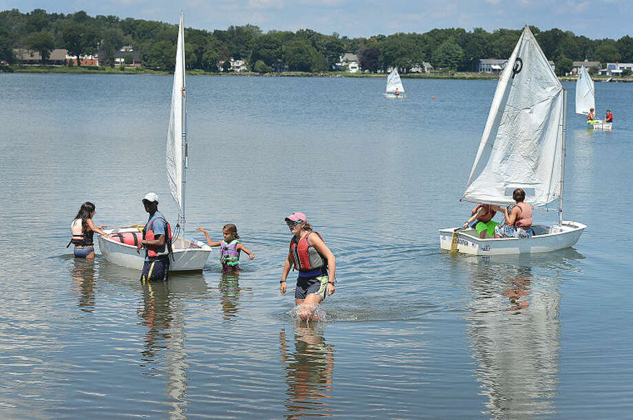 SoundWaters summer camp Opti Program sailing school.