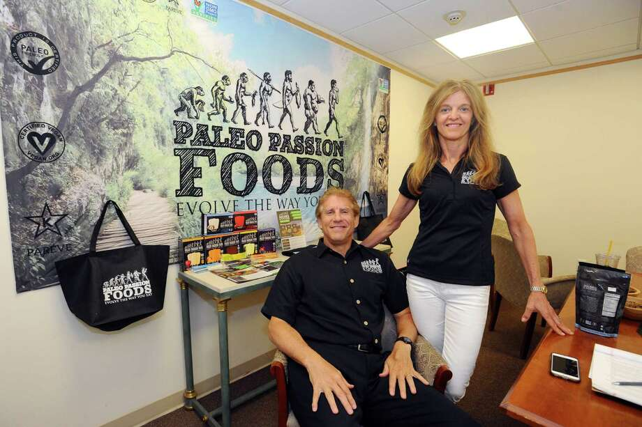 Paleo Passions co-founders Marty and Kim Sands pose for a photo in their Greenwich office on Tuesday, June 14, 2016. Photo: Michael Cummo / Hearst Connecticut Media / Stamford Advocate