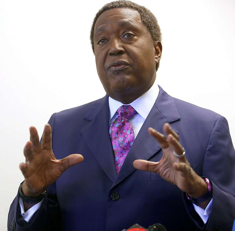 Oakland civil rights attorney John Burris, pictured at a 2016 news conference. Burris announced Friday that his client, a 20-year-old woman at the center of a Bay Area police scandal, is suing the Costa Costa County Sheriff's Department, including Sheriff David Livingston and Deputy Sheriff Ricardo Perez. Photo: Liz Hafalia, The Chronicle