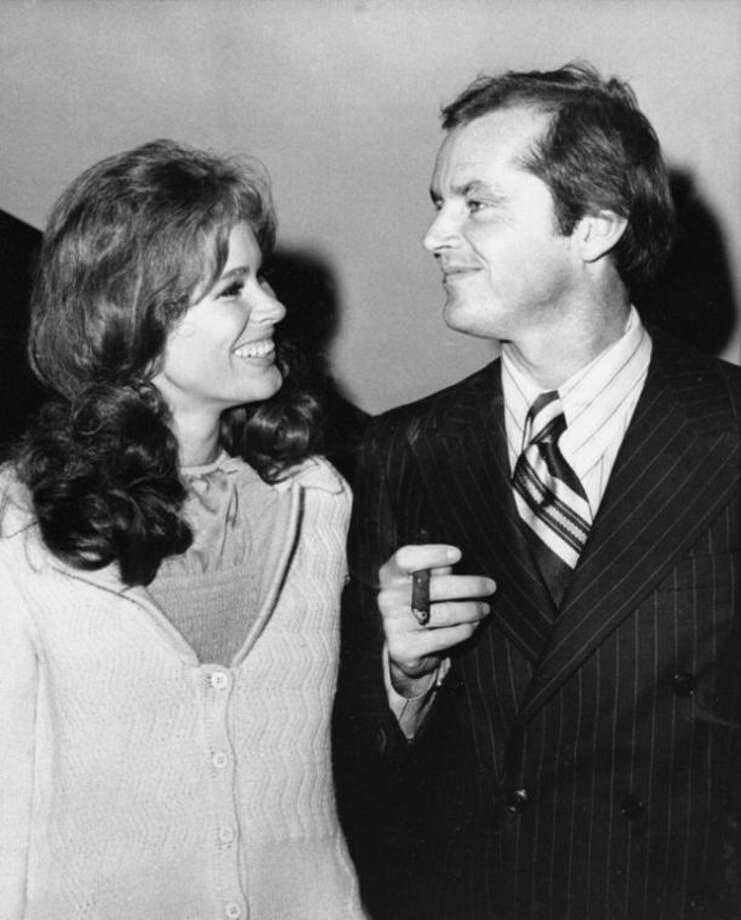 """FILE - In this Sept. 11, 1970 file photo, Jack Nicholson, right, and co-star Karen Black appear together at New York's Philharmonic Hall to attend the premiere of their new film """"Five Easy Pieces."""" Black's husband, Stephen Eckelberry, says the actress died Wednesday, Aug. 7, 2013, after battling cancer. She was 74. (AP Photo, File)"""