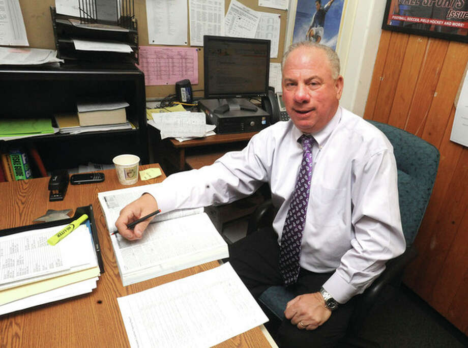 Norwalk High School Athletic Director Wayne Mones. hour photo/Matthew Vinci