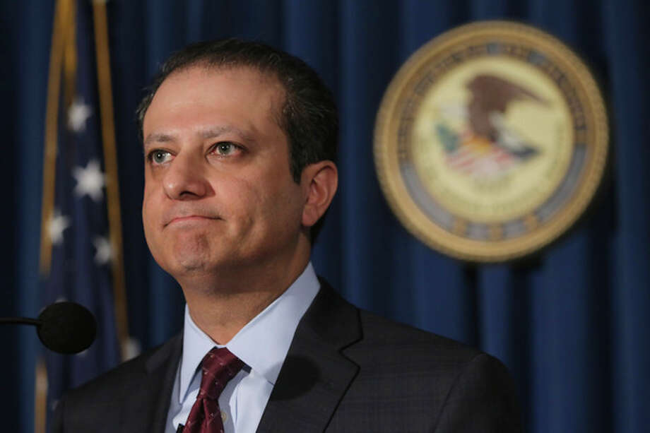 U.S. Attorney for the Southern District of New York Preet Bharara speaks during a news conference, Thursday, July 25, 2013 in New York. SAC Capital, the hedge fund operated by embattled billionaire Steven A. Cohen was hit with white-collar criminal charges Thursday that accused the fund of making hundreds of millions of dollars illegally, and a related government lawsuit said insider trading was pervasive and unprecedented at the firm. (AP Photo/Mary Altaffer) / AP