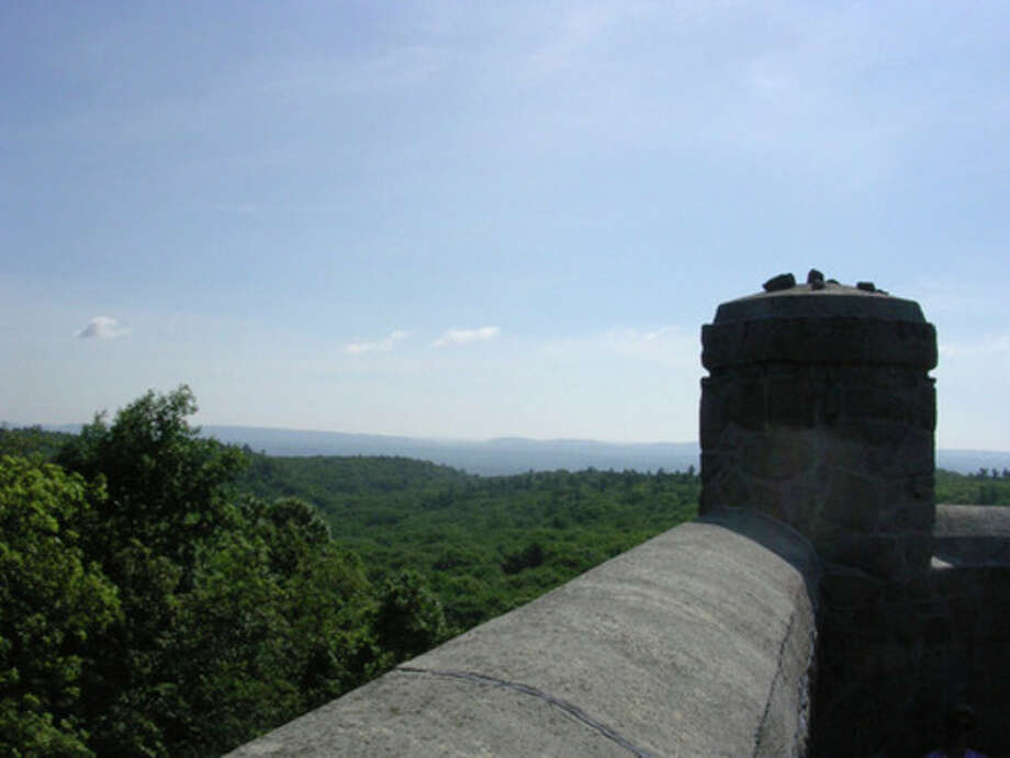 Photo by Rob McWilliamsHiking Sleeping Giant in Connecticut. View from the tower.