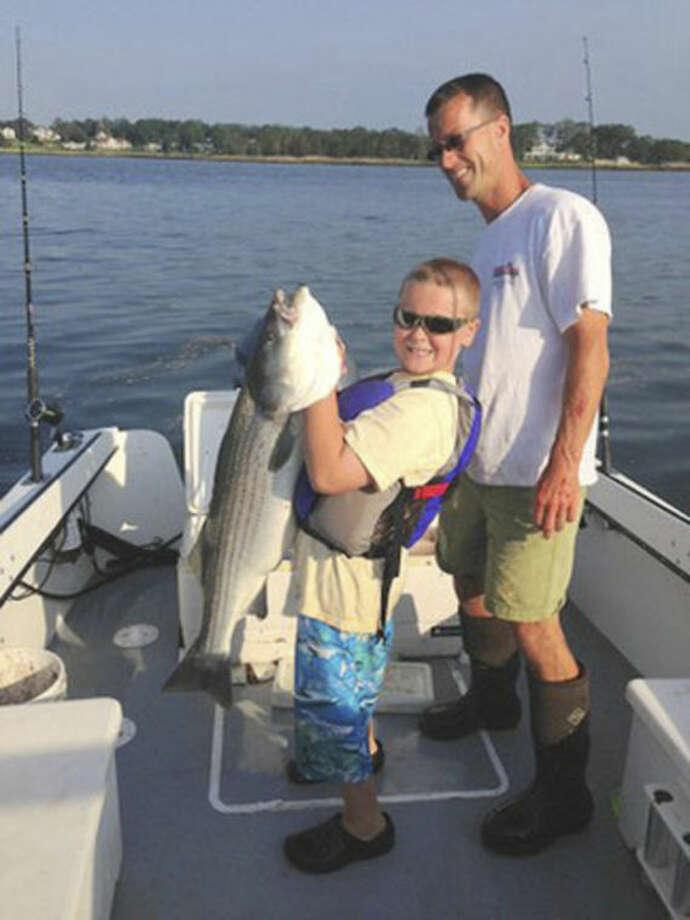 Norwalk's Austin Getner won a DEEP fishing contest.