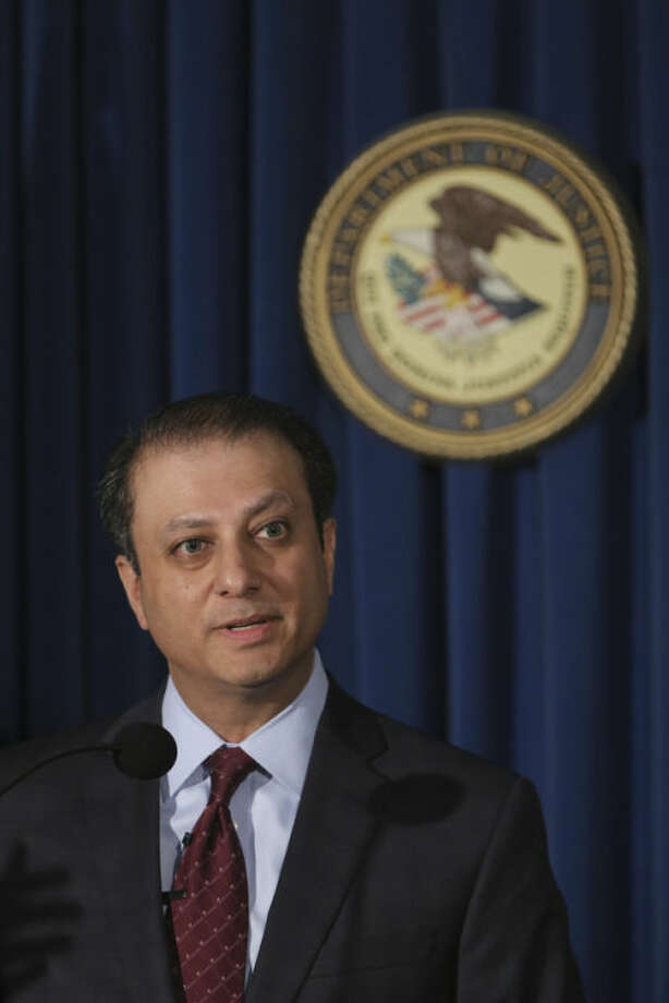 U.S. Attorney for the Southern District of New York Preet Bharara speaks during a news conference, Thursday, July 25, 2013 in New York. SAC Capital, the hedge fund operated by embattled billionaire Steven A. Cohen was hit with white-collar criminal charges Thursday that accused the fund of making hundreds of millions of dollars illegally, and a related government lawsuit said insider trading was pervasive and unprecedented at the firm. (AP Photo/Mary Altaffer)