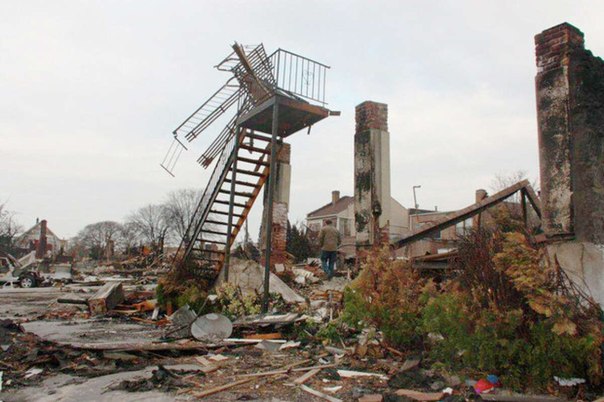 Scenes from King Industries' trip to Rockaway, N.Y., last weekend to help with Hurricane Sandy relief. Contributed photo