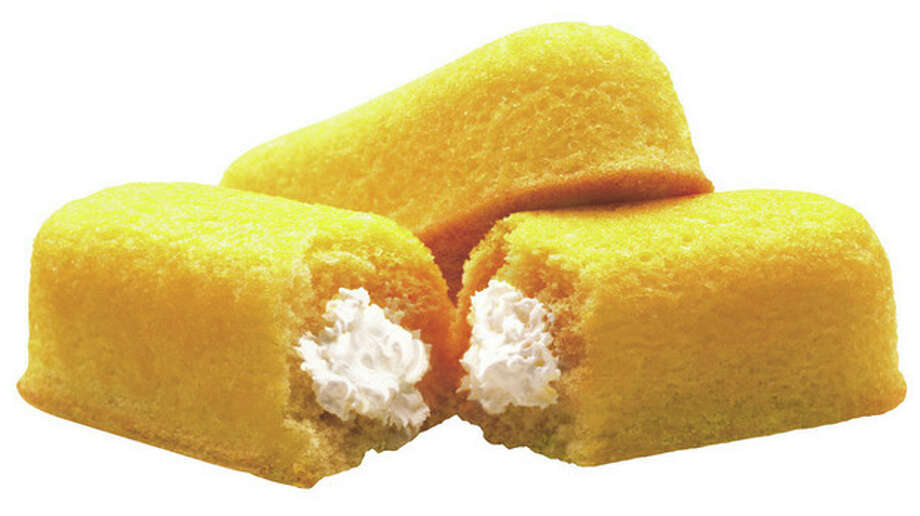 FILE - This 2003 file photo originally released by Interstate Bakeries Corporation shows Twinkies cream-filled snack cakes. Twinkies first came onto the scene in 1930 and contained real fruit until rationing during World War II led to the vanilla cream Twinkie. (AP Photo/Interstate Bakeries Corporation via PRNewsFoto) / TGPRN INTERSTATE BAKERIES CORPORATION