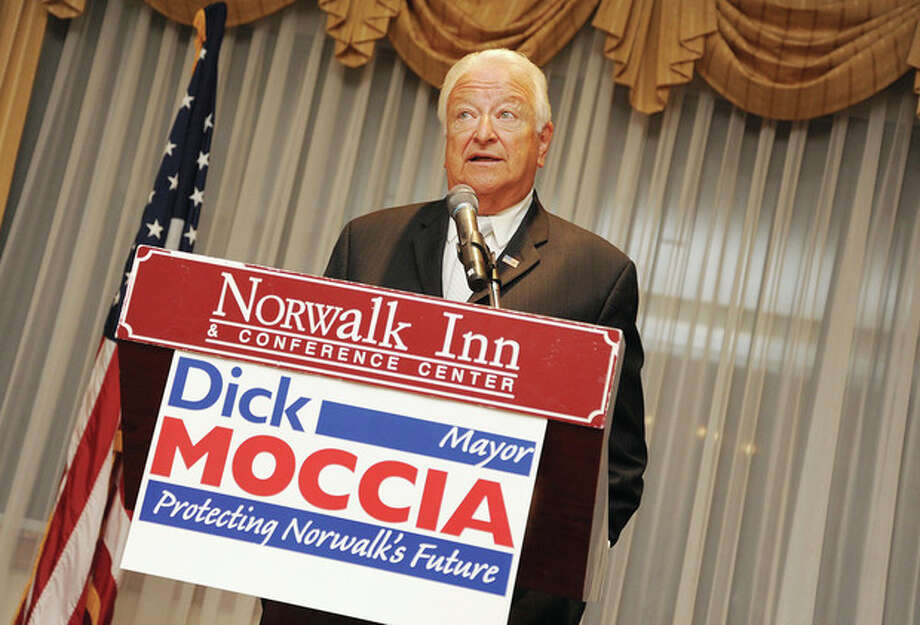 Hour photo/Matthew VinciNorwalk Republican Town Committee endorses Mayor Richard A. Moccia for a fifth term at The Norwalk Inn & Conference Center.