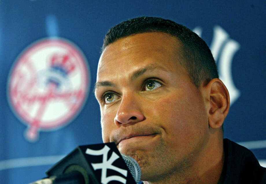 FILE - In this Feb. 25, 2010 file photo, New York Yankees' Alex Rodriguez speaks at a news conference during baseball spring training at Steinbrenner Field in Tampa, Fla.Major League Baseball has told the union which players it intends to suspend in its drug investigation and which ones will receive lengthier penalties for their roles in the Biogenesis case. (AP Photo/Kathy Willens, File) / AP