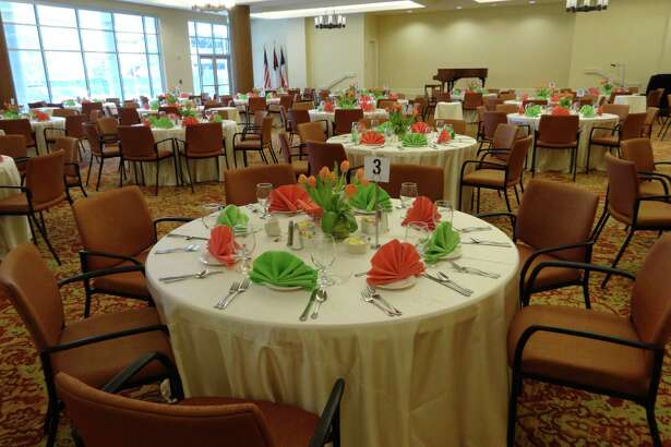 The Event Center at Brazos Towers at Bayou Manor was set for a Mothers' Day Brunch for 175 guests.