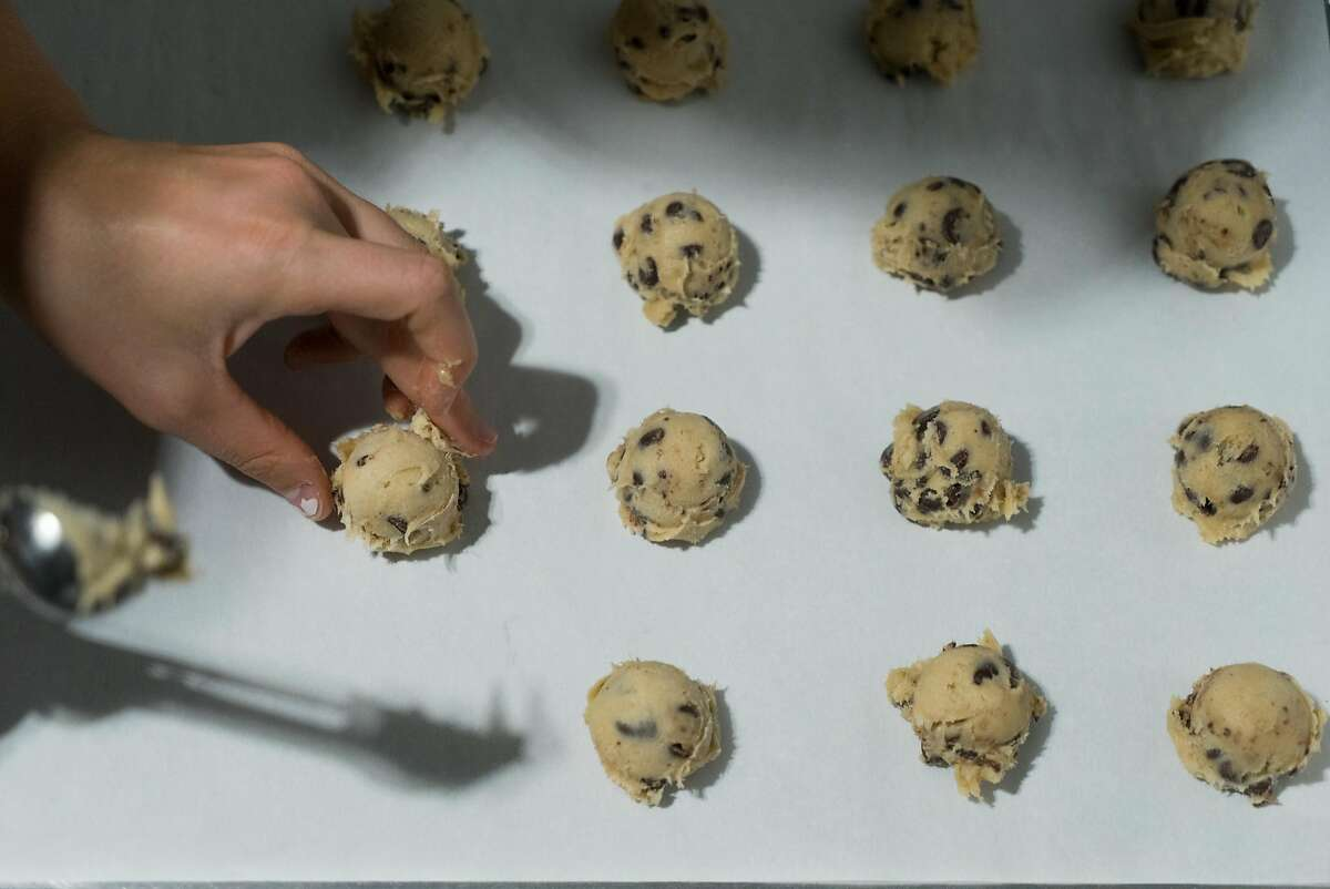 Sydney Doyle of Sweet Sydney's makes gluten-free cookies at Kitchentown in San Mateo, Calif. on Wednesday, June 15, 2016. Rocketspace, a tech startup campus is launching a food accelerator where food tech startups will be able to work at Kitchentown.