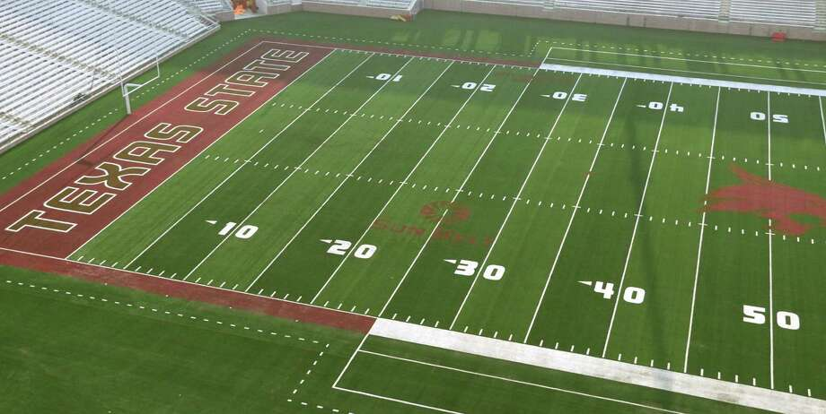 Texas State replaced the turf in Bobcats Stadium with a new surface called FieldTurf Revolution 360. It replaces the Duraspine FieldTurf installed in 2010. Photo: Courtesy Photos /Texas State Athletics