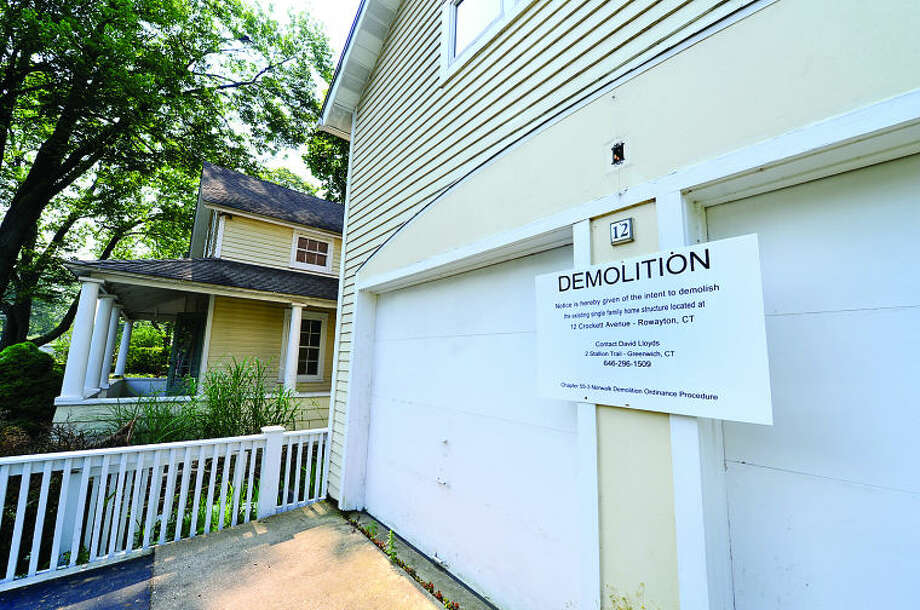 There is an effort afoot to save 'historic' house at 12 Crockett St. in Rowayton. The Norwalk Historical Commission will hold a public hearing on matter Monday evening. Hour photo / Erik Trautmann