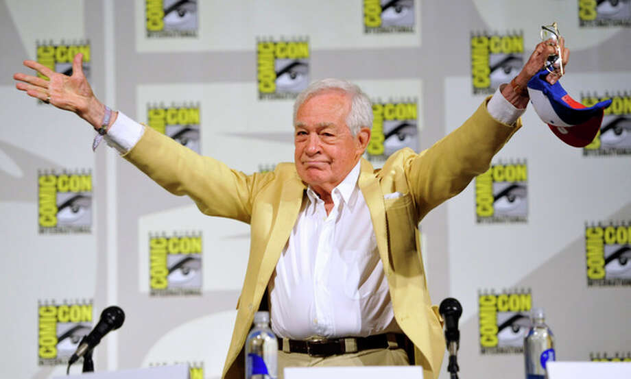 "Jack Larson, who played Jimmy Olsen in the 1950's TV series, ""The Adventures of Superman, attends the ""Superman"" 75th Anniversary panel on Day 4 of the Comic-Con International on Saturday, July 20, 2013 in San Diego. (Photo by Chris Pizzello/Invision/AP) / Invision"