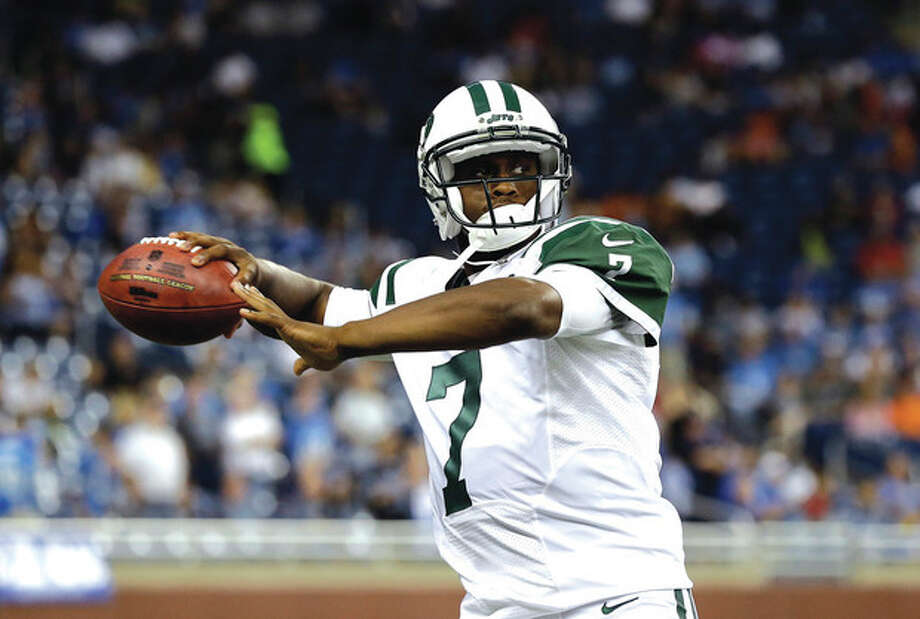 AP photoNew York Jets quarterback Geno Smith throws in the first half of Friday's preseason game against the Detroit Lions. Head coach Rex Ryan described Smith's effort Wednesday in practice as 'brutal' after the rookie tossed multiple interceptions. / AP
