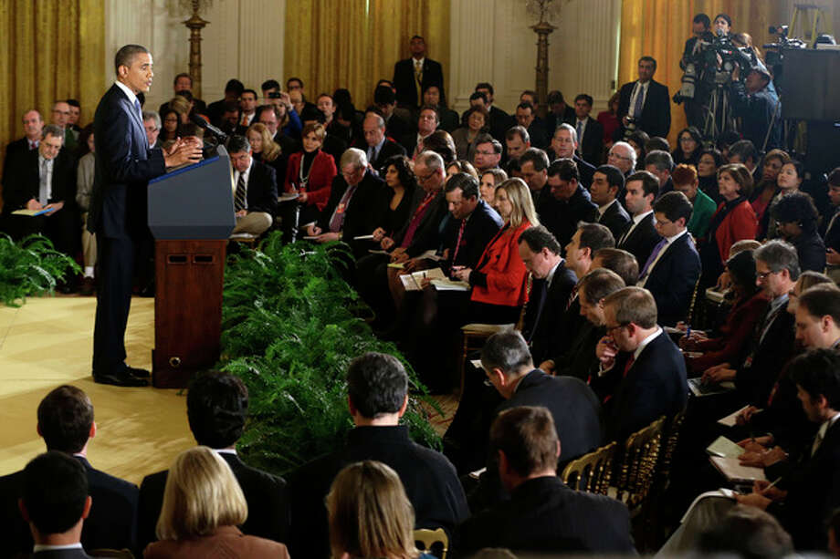 President Barack Obama answers a question during a news conference in the East Room of the White House in Washington, Wednesday, Nov.14, 2012. (AP Photo/Charles Dharapak) / AP