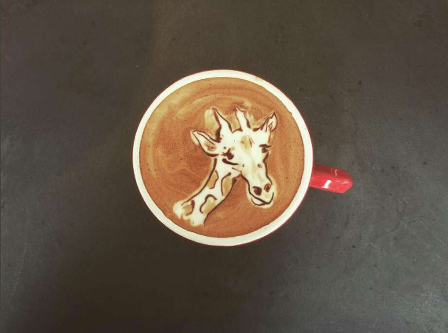 Gallery: Hybrid coffee shops in the Bay AreaElite Audio Coffee Bar893 Folsom Street, San FranciscoThis coffee bar serves up some elite latte art, like this foamy giraffe by barista Melannie Aquino. In addition to dishing up locally roasted brews, the spot also... Photo: Melannie Aquino