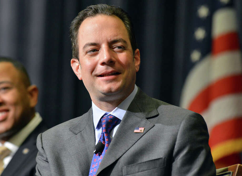 "Chairman of the Republican National Committee Reince Priebus, reacts to a speech during the Republican National Committee summer meeting Thursday, Aug. 15, 2013, in Boston.The RNC formally renewed its minority outreach effort, introducing the first four members of a ""Rising Stars"" program designed to promote younger and more ethnically diverse Republicans leaders. (AP PHOTO/JOSH REYNOLDS) / FR25426 AP"